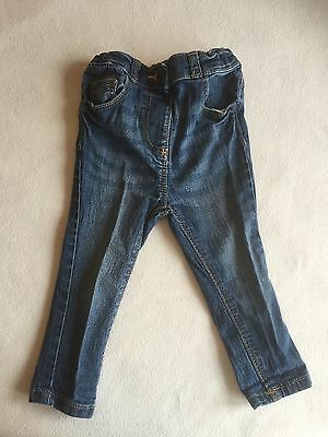 Baby Girls Clothes 9-12  Months - Pretty Skinny Blue Jeans Trousers