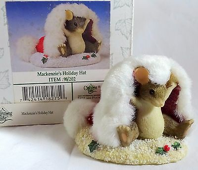 Charming Tails Figurine Makenzie's Holiday Hat