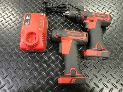 """Snap-On 14.4v 1/4"""" Hex Drive Screwdriver & 3/8"""" Cordless Drill"""