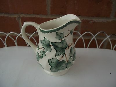 BHS Country Vine Leaf, Milk Jug 1/2 Pint  - Cream/Green/Brown - Immaculate Cond