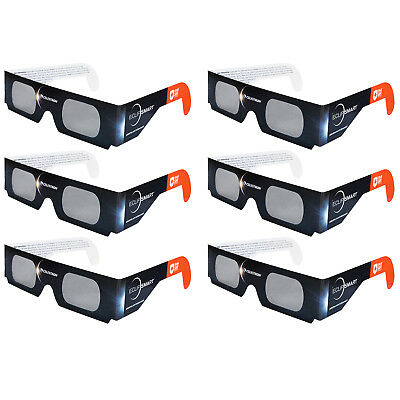 Celestron EclipSmart Solar Shades - Eclipse Viewing Glasses (6 Pack)