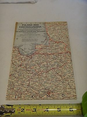 1958 National Geographic Society Map of Poland and Czechoslovakia