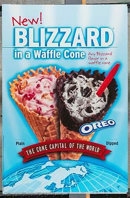 Dairy Queen Promotional Poster For Backlit Menu Sign Blizzard Waffle Cone dq2