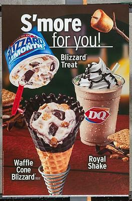Dairy Queen Promotional Poster For Backlit Menu Sign S'more Blizzard dq2