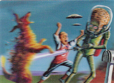 2012 Topps Mars Attacks Heritage 3-D 3-Dimension Card #5 Destroying A Dog