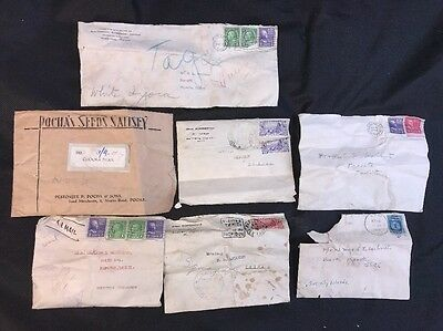 LOT Collection 7 Rare Vintage TAHITIAN Seeds Old STAMPS Botanist Botany Extinct