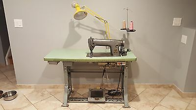 Singer Straight Stitch Sewing Machine Model # 251-11 With Table & Motor