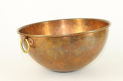 Vintage Copper Mixing Bowl By Bridge Kitchenware - Made In France