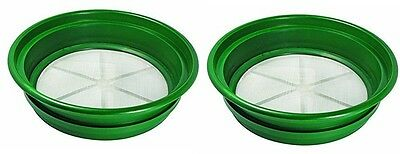 "Gold Classifier Sifting Pan 1/50"" Mesh Screen 2 PACK 5 Gal Bucket Sieve NEW"