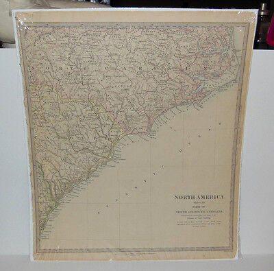 Original 1833 Map North & South Carolina 14 x 16 by Baldwin & Cradock EXCELLENT