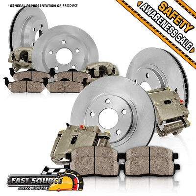 Front+Rear OE Brake Calipers And Rotors + Ceramic Pads 2009 2010 - 2013 Journey