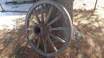 """ANTIQUE WOODEN HUB WAGON WHEEL  39.5"""" across  3"""" wide ( 100 LB  ) ( 2 AVAILABLE"""