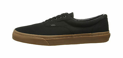 Vans Unisex Women Men Canvas Shoes Era Black Classic Gum Bottom Black Sneakers