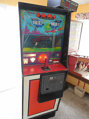 Vintage Arcade Machine Midway SAMI missile arcade game Coin operated game works