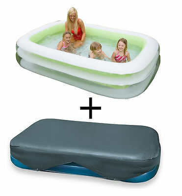 Intex 56483NP Swim Center family piscina 262 x 175 x 56 cm + lona cobertora