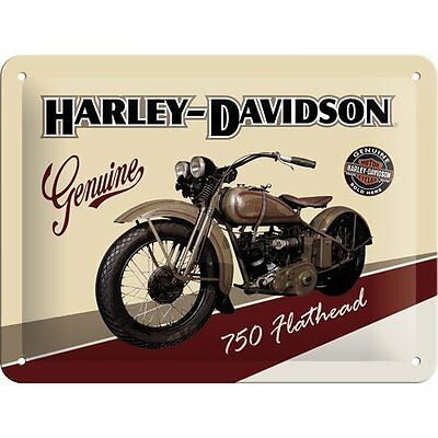 Harley-Davidson Genuine Targa in metallo, 20 x 30 cm