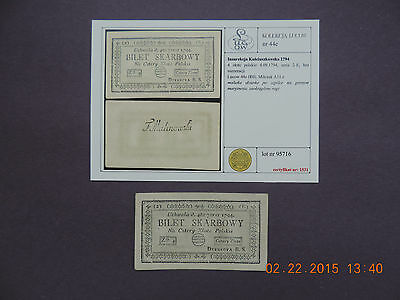 Poland -  1794 - 4 Zlote  With Certificate -Very Rare -Lucow Collection-Aunc