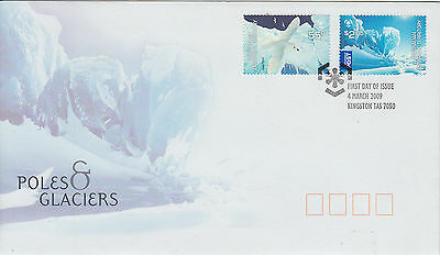 2009 Poles & Glaciers Stamps FDC