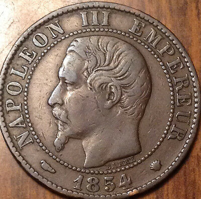1854 Ma France 5 Centimes In Good Condition
