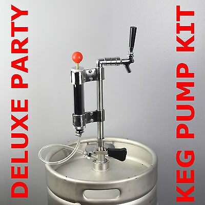 Deluxe Keg Party Pump Kit Beer Draught Picnic Tap Coupler