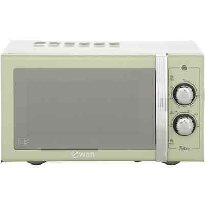 Swan SM22070GN Retro 900 Watt Microwave Free Standing Green New from AO