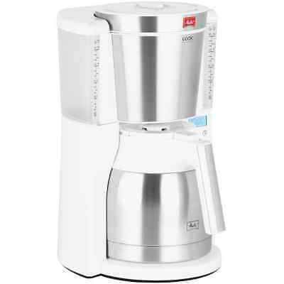 Melitta 6738037 Look IV Therm Timer Filter Coffee Machine with Timer White New