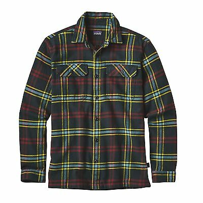 Patagonia Men's Long Sleeved Fjord Flannel Shirt - Windrow: Carbon