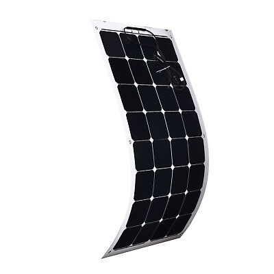 100W Flexible Solar Panel Power Battery Mono Charging Caravan Boat Camping 12V