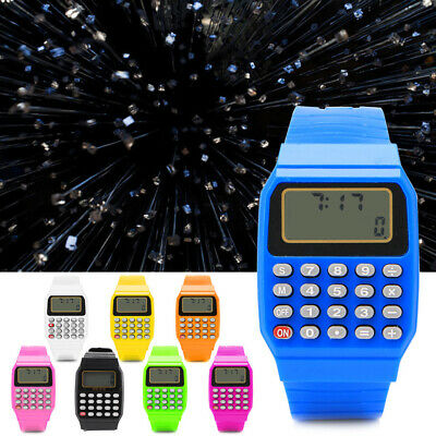 Multi-Purpose Silicone Date Fashion Child Kid Electronic Wrist Calculator Watch