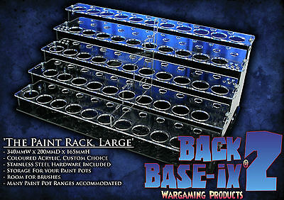Paint Bottle Rack Organizer for Vallejo Paint 53 Pots Custom Color Choice