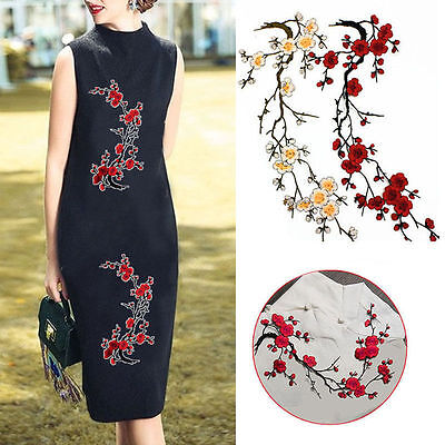 Blossom Flower Applique Clothing Embroidery Patch Sticker Iron On Sew DIY Crafts