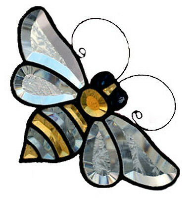 Stained Glass Bumble Bee Bevel Cluster (Color) BC058 GST free pattern