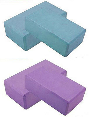"Set of 2: Yoga Pilates EVA Foam Block / Brick! Stretch Exercise Gym 3"" x 6"" x 9"""