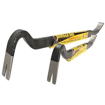 "Roughneck ROU64400 Gorilla Wrecking Pry Crow Bar Twin Pack 14"" 350mm 24"" 600mm"