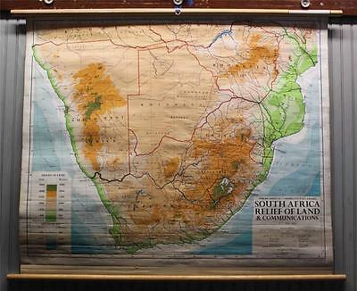 Denoyer Geppert~Philips Series of Comparative Wall Atlas~South Africa Relief Map