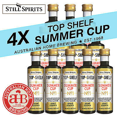 4x Still Spirits Top Shelf  Summer Cup No1  essence Pimms style home brew