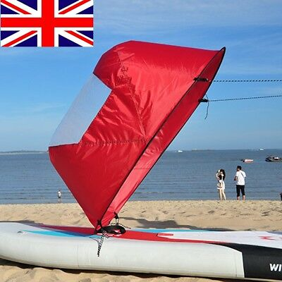 "42"" Kayak Sails Wind Scout Paddle Instant Sail Kit CANOE WIND FOLD UP SAIL UK"