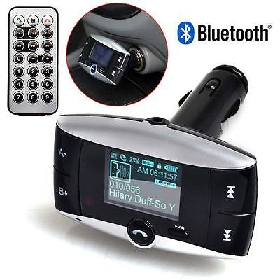 Bluetooth Car FM Transmitter Wireless MP3 Radio Adapter Triple USB Ports Charger