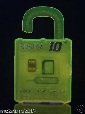 R-SIM 10+ RSIM 10+ PLUS Cloud Unlock Card For Ios9.X&8.X&7.X of iPhone 5 4S&6S&6