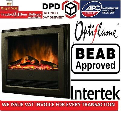 Dimplex Bach Wall Mounted Electric Fire 2kW Inset Heater Fireplace