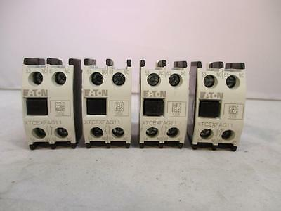 (Lot of 4) Cutler-Hammer 2P Contactor Accessory XTCEXFAG11