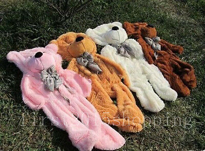 HOT Large Teddy Bear cover Skin with zipper soft toys (without cotton) 60-300cm