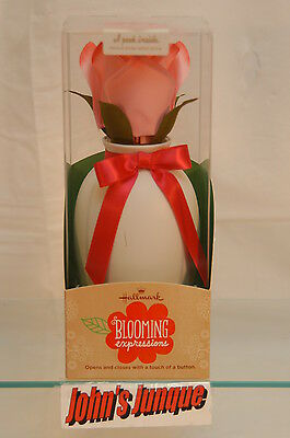 Love You Lots Blooming Expressions Hallmark~Pink Rose~New In Box~Free Ship Us~