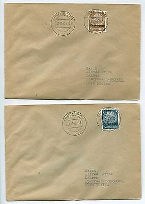 Luxembourg German Occupation #N1-N16 Set on 16 Covers 10/31/1940 Cancels PH2909