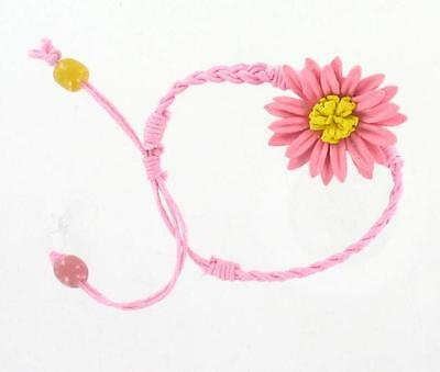 Leather Flower Bracelet