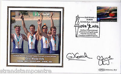 2004 Athens Olympics - Benham GB Medal Winners Silk - Signed COODE & WILLIAMS