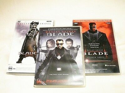 "Blade Bulk Pack, 3 Cases 5 Dvd Bundle All Pal ""preowned"" Auz Seller P34"