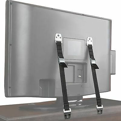 Safety Baby Metal Furniture / TV Straps - Earthquake Proof - Hardware Included