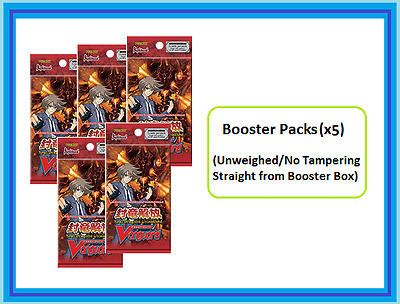 Cardfight!! Vanguard Seal Dragons Unleashed Booster pack (x5) (VGE-BT11) ENG