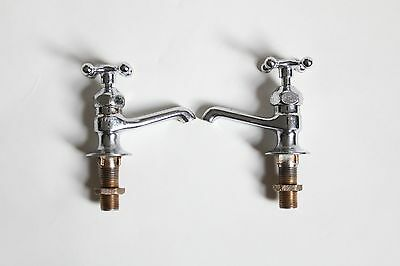 antique faucet bathroom sink | crane vtg victorian plumbing nickel brass